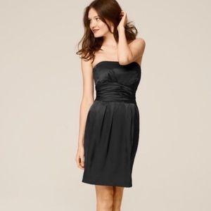 David's Bridal Short Charmeuse Black Dress